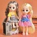 13 gelenk BJD Puppe 16cm Set Zubehör kinder Spielen Haus Spielzeug Mode Kleid Up Mädchen Spielzeug Kann made Dekoration Geschenke