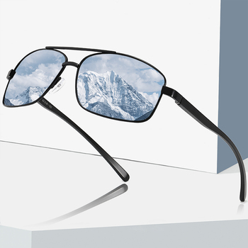 ZXWLYXGX Brand Men Polarized Sunglasses Aluminum Magnesium Sun Glasses Driving Glasses Rectangle Shades For Men Oculos masculino fuqian 2020 fashion rimless pilot polarized sunglasses men high quality aluminum magnesium sun glasses women driving shades