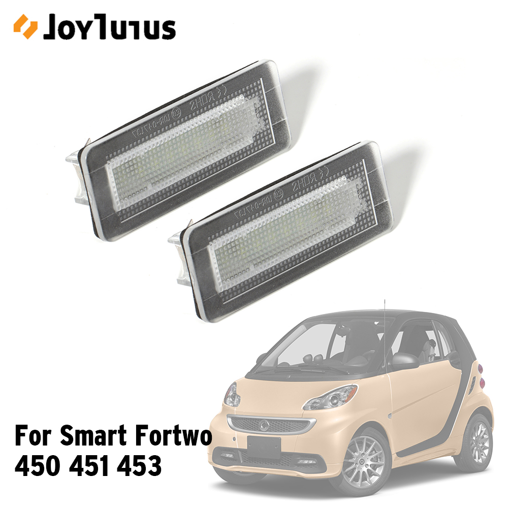 For Smart Fortwo Coupe Convertible 450 451 Car LED License Plate Light Accessory