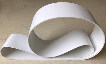 (Dostosowany przenośnik taśmowy) obwód 800-1250mm W 50mm T 3mm biały przenośnik taśmowy z PVC tanie i dobre opinie CN (pochodzenie) Standardowy Płaski pas