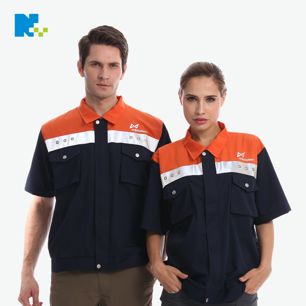 Spring And Autumn Logistics Express LED Shining Work Clothes Take-out Men And Women LED Clothes Safe Jing Shi Fu Customizable
