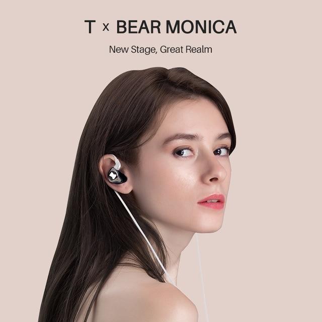 TFZ T X BEAR MONICA In Ear Monitor Professional Headphone Noise Canceling Super Bass DJ Music HIFI Headset Detachable Cable 3