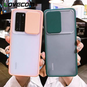 LOVECOM Shockproof Phone Case For Huawei P40 P40 Pro Slide Camera Lens Protection Matte Soft Back Cover Coque New!
