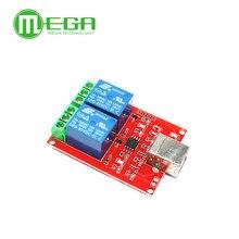 10 adet 2 kanal USB röle modülü programlanabilir bilgisayar kontrol akıllı ev için DC 5V