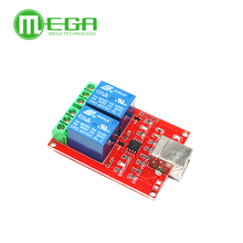 Módulo de relé USB de 2 canales, Control de computadora programable para casa inteligente, cc 5V 10 Uds.