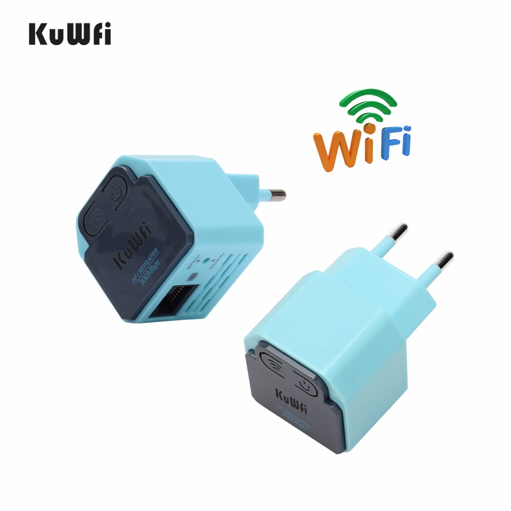 300Mbps Wireless Router WiFi Repeater 2.4Ghz AP Router 802.11N Wi-fi Signal Amplifier Range Extender Booster With US EU Plug image