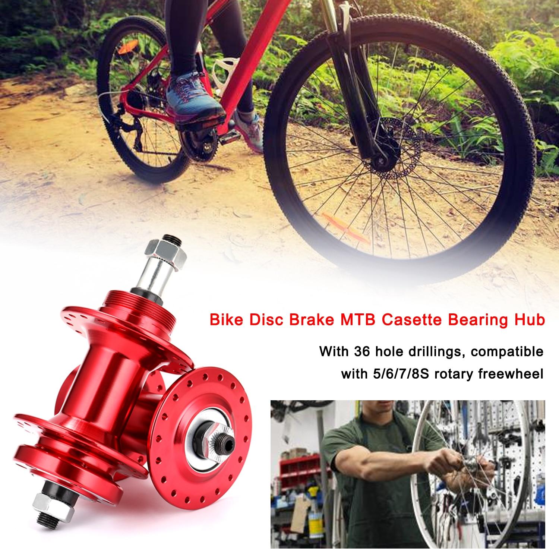 Bisiklet fren diski MTB Hub kaset rulman göbeği 36 H ön arka Hub seti bisiklet Hub 36 delik Hub bisiklet Hub freehub