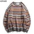 ICPANS Koreanische Gestreiften Herren Pullover Baumwolle Wolle Winter Pullover Männer Hip Hop Stricken Pullover Männer Große Größen Herren Pullover Jacke 2019