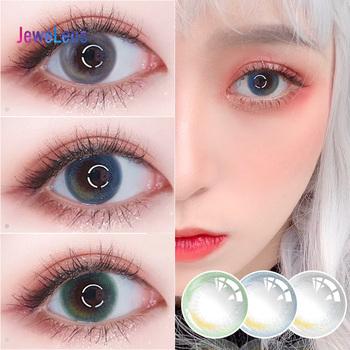 Jewelens kolorowe soczewki kontaktowe kolorowe szkła do oczu kosmetyk kolorowy Con Dream LF Series tanie i dobre opinie CN (pochodzenie) 14mm Dwa Kawałki 0 04-0 06mm HEMA Piękne Uczeń 8 5mm Yearly