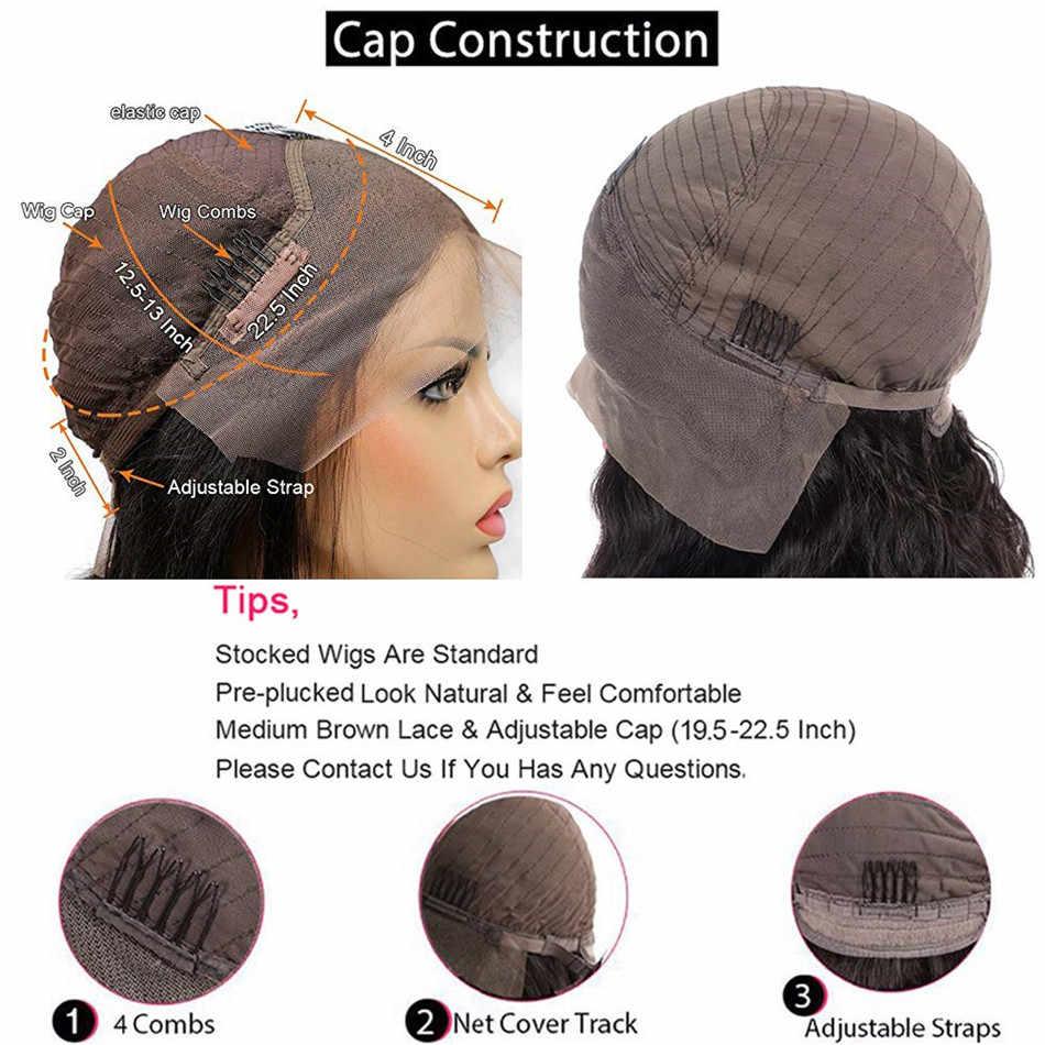 Liddy frente do laço perucas de cabelo humano em linha reta pré arrancadas 8-26 Polegada 13x4 peruca dianteira do laço 150% não remy perucas da parte dianteira do laço do cabelo humano