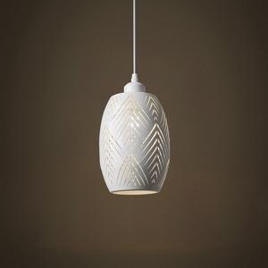 Image 3 - OYGROUP E27 תליון מנורת חלול החוצה מתכת אהיל כפרי בציר מקורה תקרת תליית גוף תאורה לבן/שחור לא הנורה