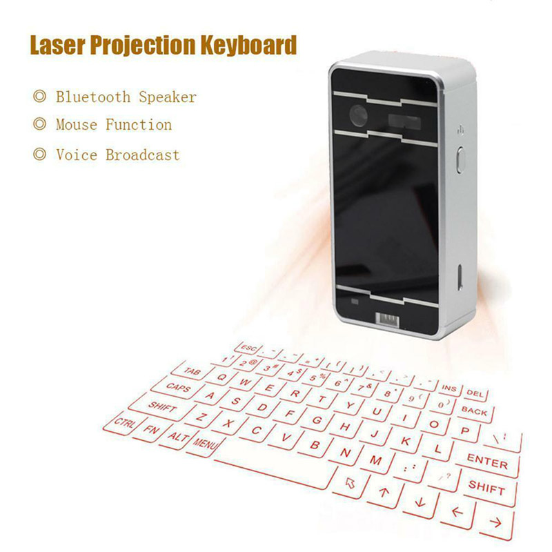 Portable Virtual Lasers Keyboard Mouse Wireless Bluetooth Lasers Projection Speaker PUO88