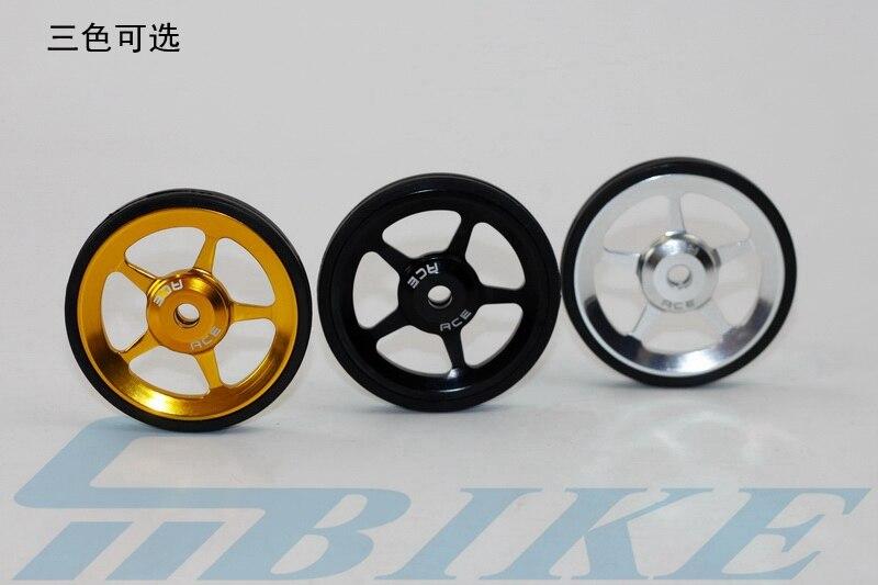1 paire vélo Easywheel 3 couleurs alliage d'aluminium Super léger roues faciles + boulons en titane pour Brompton 45 g/ensemble