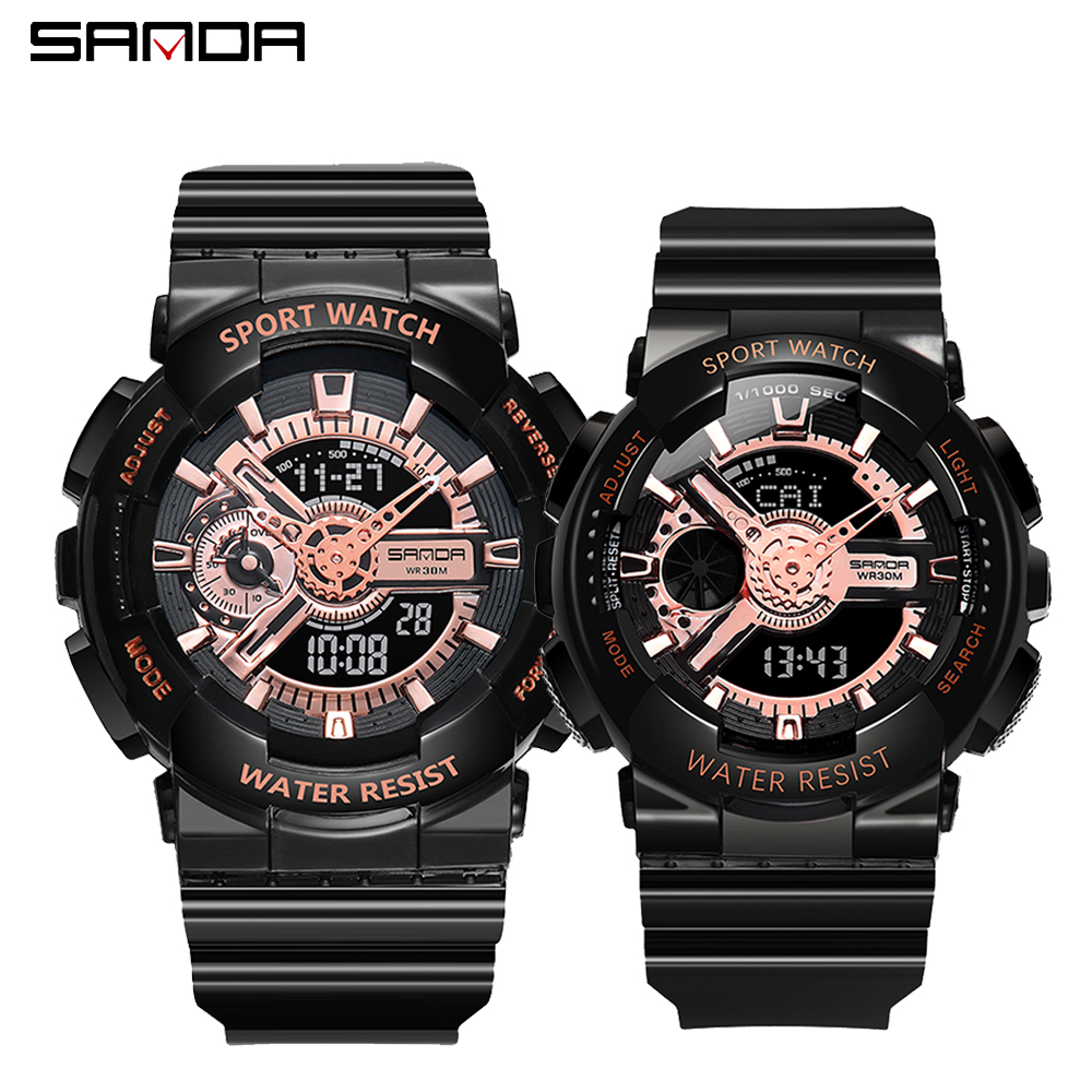 2020 SANDA Military Men's Watch Top Brand Luxury Waterproof Sport Wristwatch Fashion Quartz Clock Couple Watch relogio masculino 11