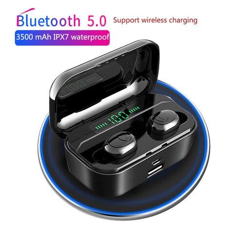 VOULAO Bluetooth Earphone G6s TWS Wireless Headphone With 3500mAh Power Bank Bluetooth V5.0 LED Display Headset IPX7 Waterproof Pakistan