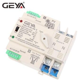 Interruptor de Transferencia Automática Din Rail 2P 3P 4P 63A AC220V ATS PV GEYA - sistema de energía Solar en red 2