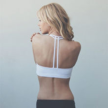 Yoga Push Up Bra Gym Fitness Women For Fitness Top Sports Bra Crop Top Women Bra Cup For A-D Black White Running Sport Bra Women