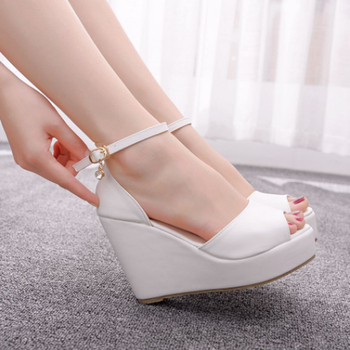 Women's hot style wedge sandals comfortable fish mouth sandals hemp rope high heel fish mouth sandals high heels for women 10cm 5