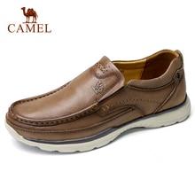CAMEL en cuir véritable hommes chaussures décontractées homme chaussures confortables en cuir de vachette souple respirant mâle appartements mocassin cuir homme