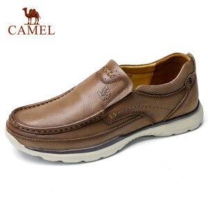 Image 1 - DEVE Hakiki Deri Erkek rahat ayakkabılar Adam Rahat Ayakkabılar Yumuşak Inek Derisi Nefes Erkek Daireler mokasen cuir homme