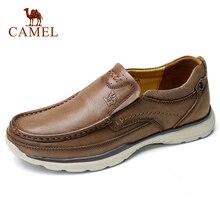 Zapatos casuales para hombre de piel auténtica CAMEL, Calzado cómodo de cuero vacuno suave, zapatos planos transpirables para hombre, mocasines cuir homme