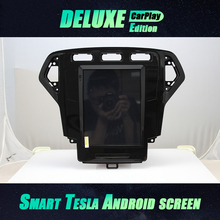 Car GPS 2din Android 10 Multimedia Player For Ford Mondeo Mk4 2011 2012 2013 2014 2015Navigation Vertical Screen Tesla Style