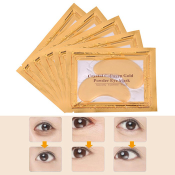 Eye Mask Gold Eye Collagen Aging Wrinkle Under Crystal Gel Patch Anti Ageing Dark Circle Whitening Hydrating Eyes Care TSLM2 electric facial massager for eyes lips anti aging wrinkle eye patch dark circle remover pen ion import eyes care massage device