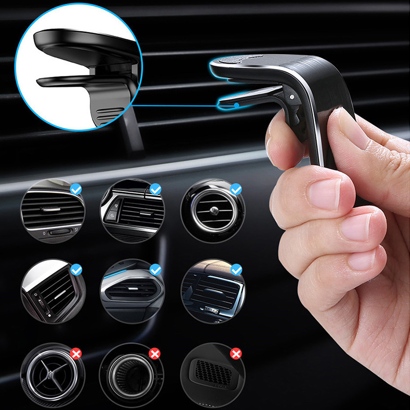 Magnetic Car Phone Holder On IPhone 8 X Samsung Car GPS Air Vent Mount Magnet Cell Phone Stand Holder For Huawei On Hone Xiaomi