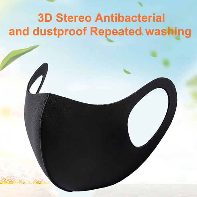 Half Face Dust Mask Solid Color Face Mouth Masks Dust Proof Windproof Mouth-Muffle Bacteria Proof Flu Earloop Face Mask Care