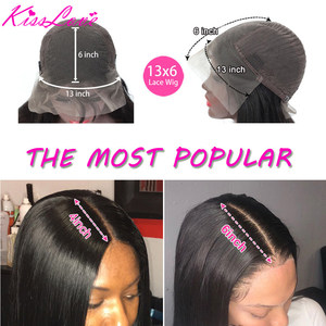 Image 3 - 13x6 13x4 Lace Frontal Human Hair Wigs Pre Plucked Glueless Brazilian Straight 4X4 Lace Closure Wig with Baby Hair Remy KissLove