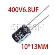 10 Uds 400V6.8UF 10*13mm 6,8 UF 400V, 10mm x 13mm, condensador electrolítico de aluminio DIP