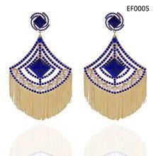 Yulaili 2019 Mode Große Quaste Ohrringe für Frauen Hochzeit Braut Kristall Imitation Perle Trendy Dame Ohrringe
