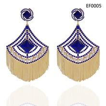 Yulaili 2019 moda büyük püskül küpe kadınlar için düğün gelin kristal İmitasyon İnci moda bayan küpe