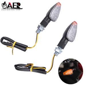 2020 Universal Motorcycle LED Turn Signal Indicators Light Amber Blinker Light 12V 2W 14 led Motorbike Lamp Super Bright