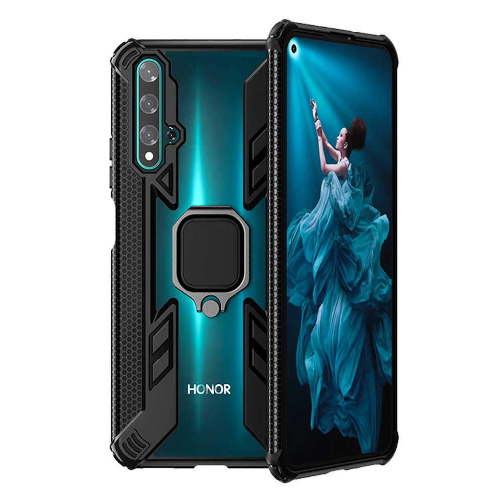 Honor 20 Case Car Holder Ring Case on the For Huawei Honor 8x 10 20 lite 10i 20i P smart 2019 Cases Shockproof armor Clear Cover