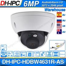 Dahua IPC HDBW4631R AS 6mp câmera ip poe áudio & alarme in/out slot para cartão sd atualizar 30m ir de IPC HDBW4431R AS ik10 ip67