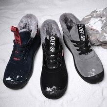 Мужские Водонепроницаемые ботинки VRYHEID, удобные зимние ботинки на меху, теплые легкие ботильоны, большой размер 39 48, для зимы