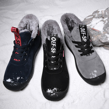 Vryheid 큰 크기 39 48 새로운 겨울 남자 부츠 방수 편안한 눈 부츠 모피 따뜻한 발목 신발 남자 신발 남성 경량