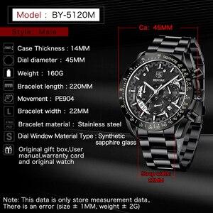 Image 3 - 2020 BENYAR למעלה מותג יוקרה גברים ספורט שעון זכר מקרית מלא פלדת שעוני יד תאריך גברים של קוורץ שעונים Relogio Masculino