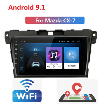 2 Din Android 9 Car Radio multimedia video player For Mazda CX7 2008 2009 2010 2011 2012 2013 2014 navigation GPS audio 2din image