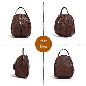 Image 3 - Genuine Leather Crossbody Bags for Women Fashion Female Bag Tassel Single Shoulder Bag Girls Small Purses and Handbags Designer