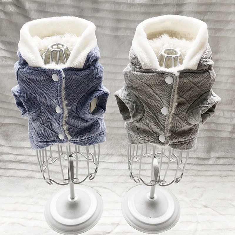 Cane di animale domestico Autunno Vestiti Caldi di Inverno di Ispessimento del Panno Morbido Cappotto Per Cani di Piccola Taglia Media Chihuahua Yorkie Cucciolo Giacca Con Cappuccio