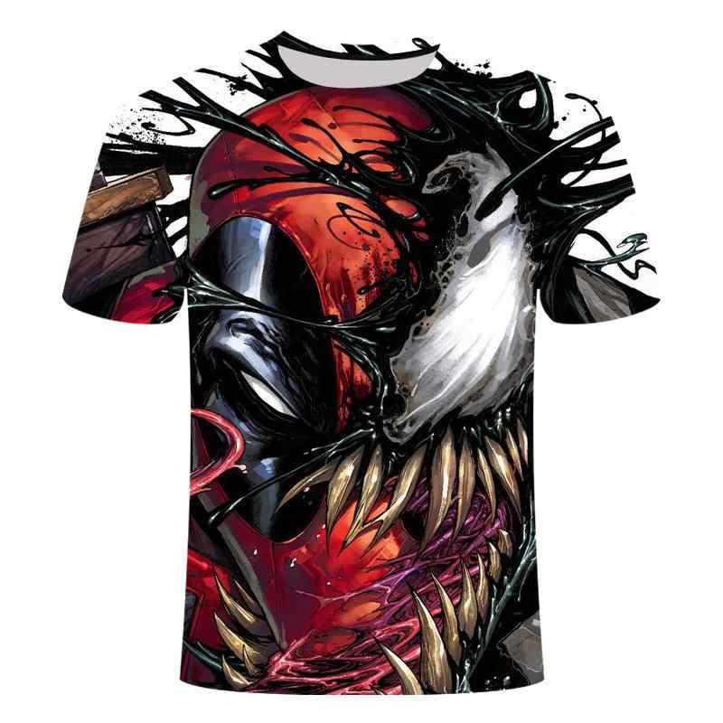 アメリカのアニメデッドプールシャツtシャツ 3D印刷tシャツ大サイズの男性と女性のフィットネスの衣類男性のシャツ楽しいtシャツ