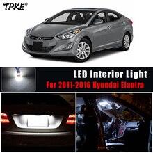 Tpke 9Pcs Led Kentekenverlichting + Interieur Lights Kit Pakket Voor 2011 2016 Hyundai Elantra Dome Kaart trunk Cargo Area Light Lam