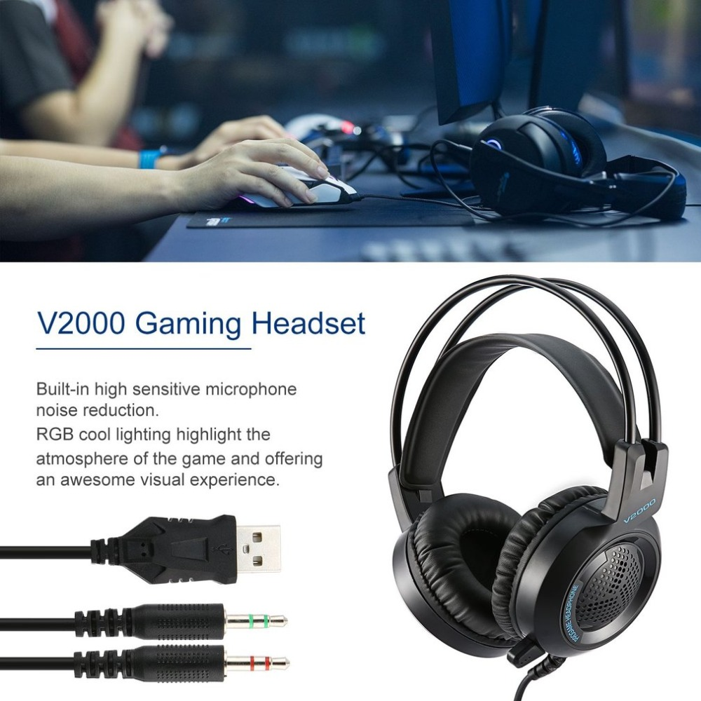 Headset 7 1 Headset gamer 7 1 Gamer Headphone Jack Bass Stereo Sound Effect Gaming Headphone With Mic for Computer PC Laptop in Headphone Headset from Consumer Electronics