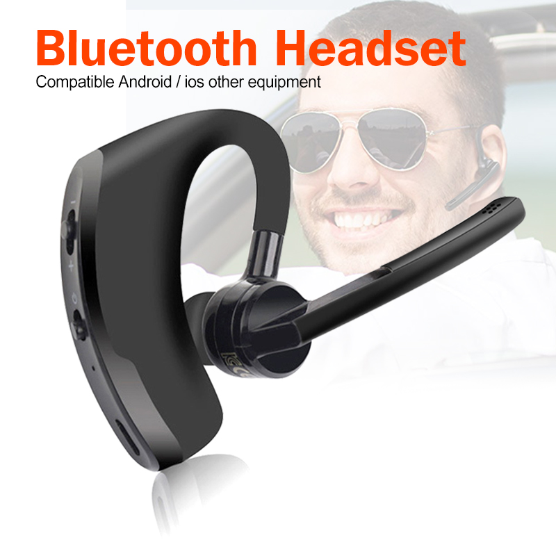 Wireless Bluetooth Headset Business Headphones With Mic Handsfree Bluetooth Earphone For Driving Car For IPhone Samsung Huawei