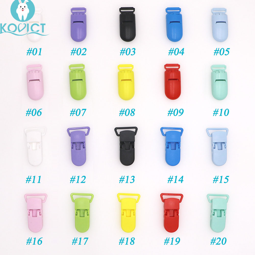 Kovict Baby Nipple Plastic Clasp Colorful Silicone Beads Chain Making Accessory Feeding Tools For Infant Pacifiers Clip