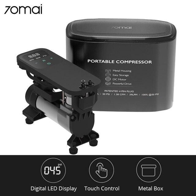 70mai Air Compressor 12V Car Tyre Inflator 70 MAI Portable Electric Air Pump 100PSI Digital Mini Compressor Inflatable Tire Pump