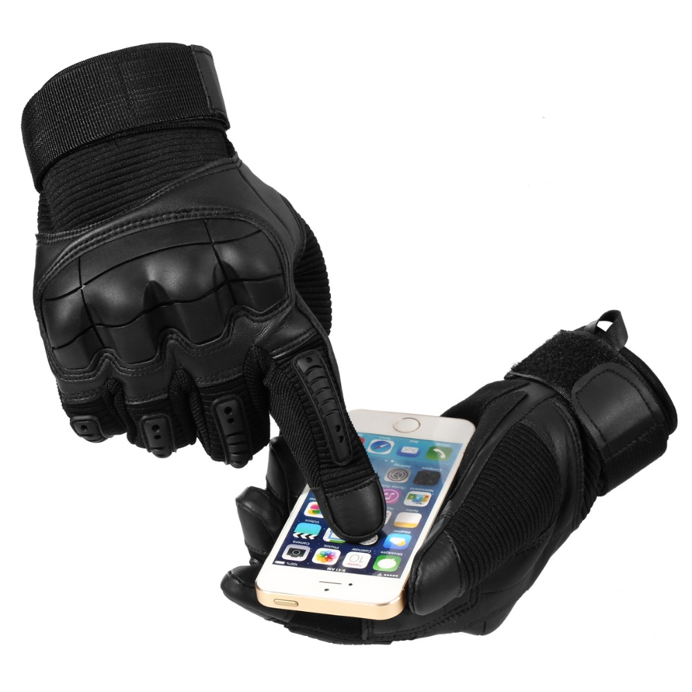 Glove Knuckle Bicycle-Combat Touch-Screen Rubber Paintball Full-Finger-Gloves Army Airsoft