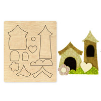 Ufurty Small House New Wood DIY Moulds Die Cut Accessories for Leather Paper Felt Steel Punch leather Crafts Wood Laser Dies